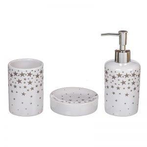 set baño 3 piezas estrellas