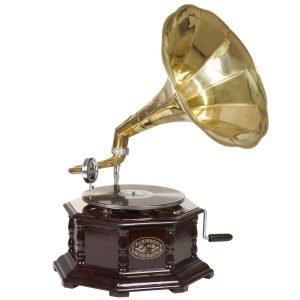 gramófono octogonal