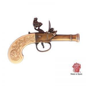 pistola chispa inglesa beige