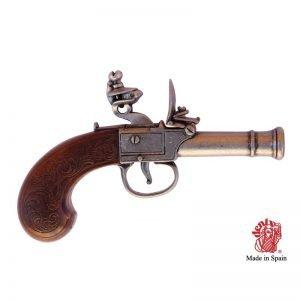 pistola chispa inglesa marrón