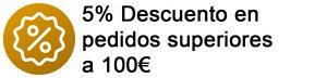 10% DTO en pedidos sup. 100€
