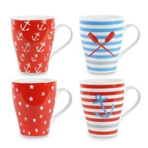 Set 4 tazas marineras