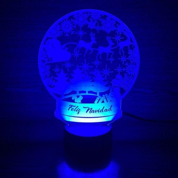 lampara navidad personalizable