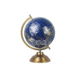 Globo Mundo Azul y Dorado