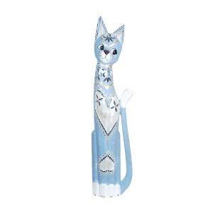 Gato Madera Azul