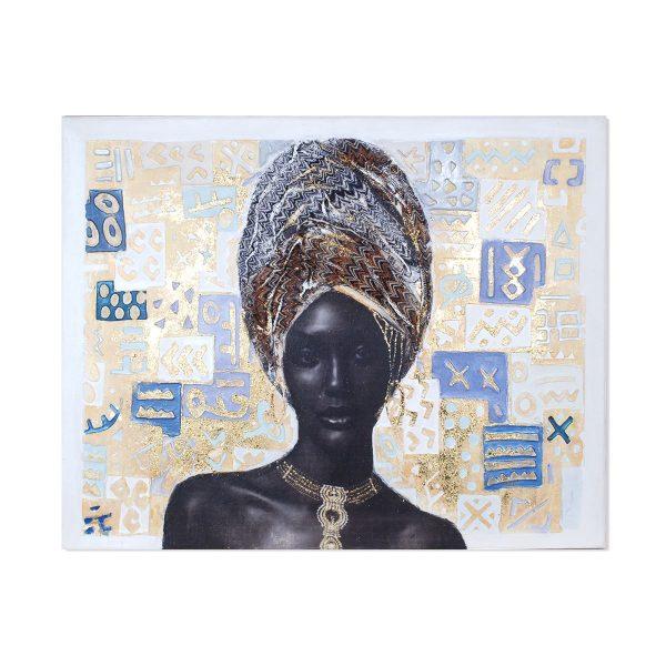 Cuadro Africana Relieve