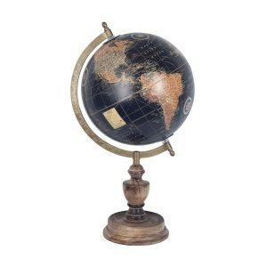 Globo Mundo Negro Pie