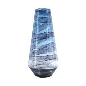 Jarrón Cristal Azul Grande