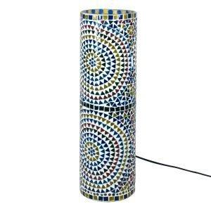 Lámpara Mesa Mosaico Cilindro