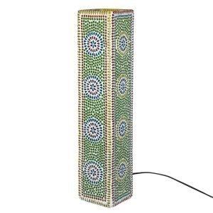 Lámpara Mesa Mosaico Cuadrada