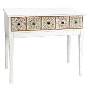 Mesa Entrada Vintage Blanca