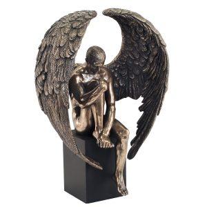 Angel Sentado Pedestal