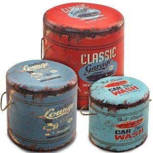 Taburetes Caja Classic - Set 3