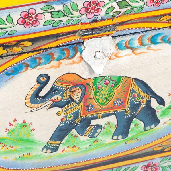 Mesita Elefante Pintada
