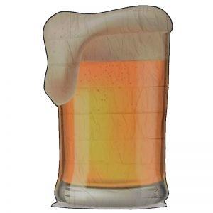 toalla jarra cerveza