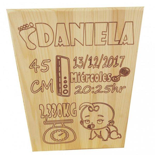 tabla madera bebé