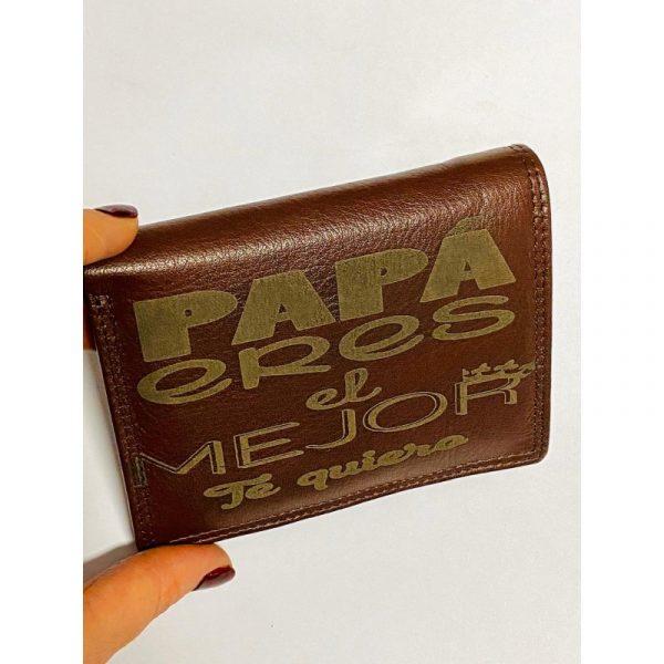 billetera con nombre
