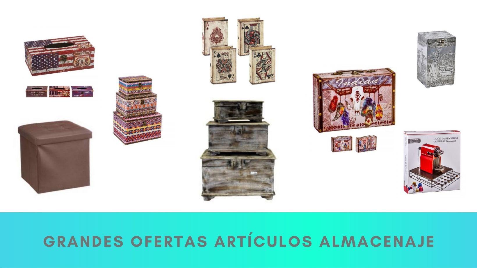 ofertas cajas y almacenaje